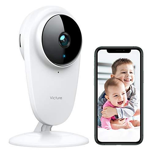 Victure 1080P Telecamera Wi-fi Interno Baby Monitor 2.4G Wi-Fi Alexa Videocamera di Sorveglianza per Bambini/Animali/Anziani con Visione Notturna Rilevamento del Suono di Movimento