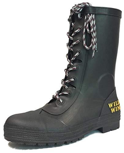 ワイルドウィング(Wildwing) レインブーツ フラミンゴ ブラック S[23.5-24.0cm] 完全防水 RIN-001