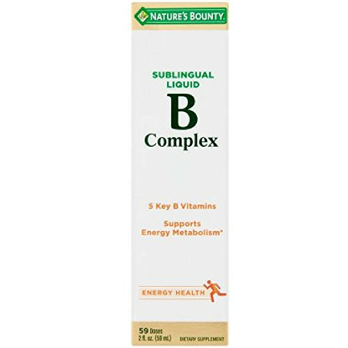 Nature's Bounty Vitamin B Complex Sublingual Liquid 2 oz ( Pack of 4)