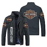 KJGLXD Sweat à Capuche Homme Chandail Manteau Impression numérique 3D Harley Davidson Fermeture éclair À Manches Longues Veste, Convient pour Le Printemps Automne