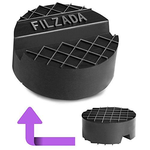 Filzada Wagenheber Gummiauflage - Universal passend [65mm x 25mm] - Für hydraulische Rangierwagenheber - Idealer Schutz für Ihre Wagenheberaufnahme - mit Nut und Riffelfläche