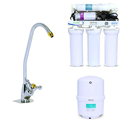 Purella Ortho Wall Mountable or Under the Sink RO Water Purifier with Faucet and 15 Litres Hydro...