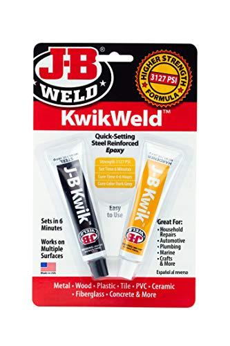 J-B Weld 8276 KwikWeld Quick Setting Steel Reinforced Epoxy - Dark Grey