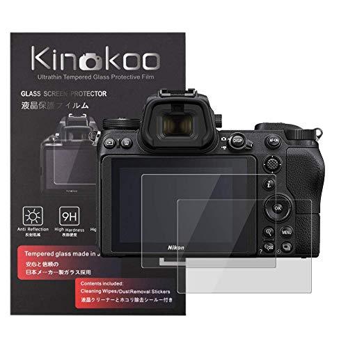 kinokoo 液晶保護フィルム ニコン Nikon Z7/Z6/Z5専用 硬度9H 高透過率 耐指紋 気泡無し 強化ガラス 厚さ0.3mm 2枚セット 標識クロス付き(Z7/Z6/Z5専用)