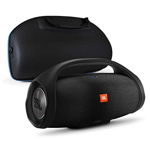 418p y32CBL This bundle includes (1) JBL Boombox Portable Bluetooth Waterproof Speaker and (1) divvi! Molded Hardshell Speaker Case Hardshell Carrying Case Is Equipped With Carry Handles, Shoulder Strap, And Soft Interior High–Capacity 20,000mAh Rechargeable Battery with Up To 24 Hours Of Playtime