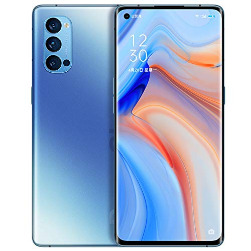"Original Oppo Reno 4 Pro 5G Smartphone 12G+256GB 6.5"" 90Hz AMOLED Snapdragon765G 65W SupperVOOC Octa Core 48MP Camera 4000Mah OTG NFC Support Google by-(Real Star Technology ) (Crystal Blue)"