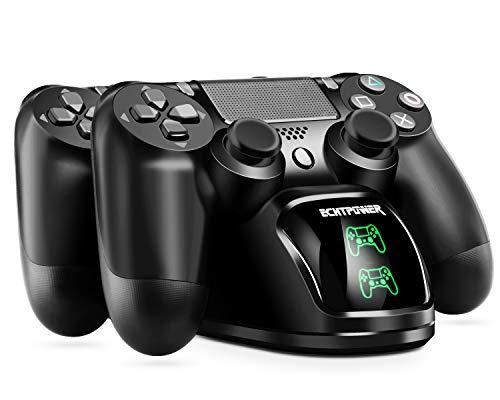 ECHTPower Cargador Mando PS4, Estación de Carga USB, Protección...