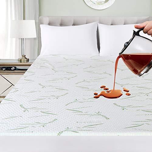 Utopia Bedding Coprimaterasso Impermeabile - Bambu Coprimaterassi - Coprimaterasso Adattabile (180 x...