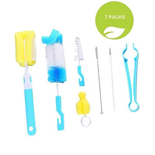 Cepillo para biberones, 7 piezas Cepillo para biberones, kit de limpieza para botellas/vasos/paja