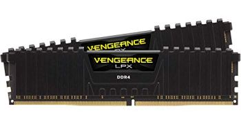 Corsair Vengeance LPX 16GB (2x8GB) DDR4 DRAM 3200MHz C16 Desktop Memory Kit - Black