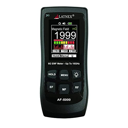 LATNEX AF-5000 5G EMF Meter RF Detector Tester and...