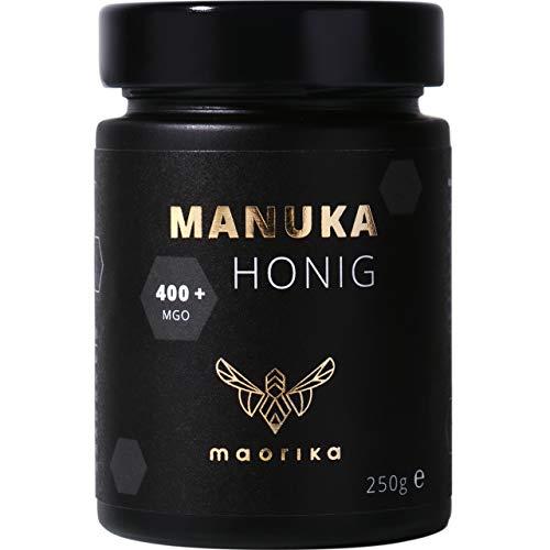 maorika - Manuka Honig 400 MGO + 250g im Glas (lichtundurchlässig, kein Plastik) - laborgeprüft