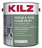 KILZ L573611 Interior/Exterior Enamel Porch and Patio Latex Floor Paint, Low-Lustre, Silver Gray, 1-Gallon, 1 Gallon, 128 Fl Oz