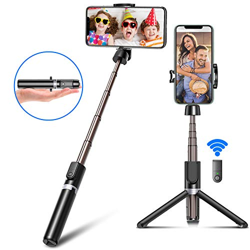 Bcway Selfie Stick Tripod, Extendable Phone Tripod Mount with Bluetooth Remote for Meeting/Video/Working at Home, Phone Holder Fit for iPhone 11 Pro Max XS XR X 8 Plus, Samsung Galaxy S20/S10 Note 10