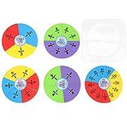 TOYANDONA Bruchkreise Setzen Bruchteile Pädagogische Mathematische Manipulationen Lernspiele Montessori Frühes Lernspielzeug für Grundschulkinder Kinder