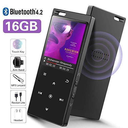 16GB Lettore MP3 con Bluetooth 4.2, SUPEREYE Audio digitale portatile lettore musicale, con radio...