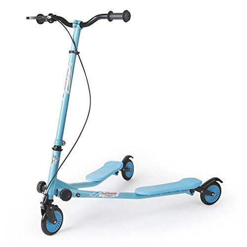 AODI Kids Foldable Swing Scooter Adjustable Height Kick Speeder Wiggle Scooters Self Push Drift for Boys/Girl/ 4 Years Old and Up