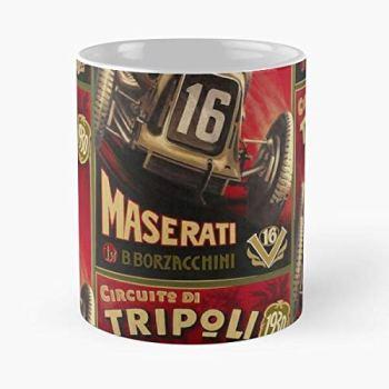 Racing Car M-a-s-e-r-a-t-i 1930 Grand Prix Fantastic Artwork Classic Mug