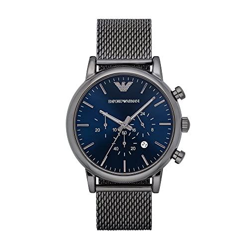 Emporio Armani Herren Chronograph Quarz Uhr mit Edelstahl Armband AR1979