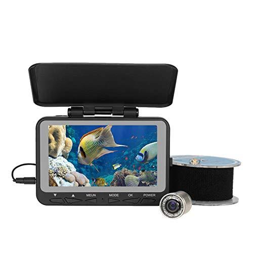 GYAM Fish Finder, Pesca sul Ghiaccio con Asta Mano 4,3 Pollici, Videocamera Subacquea Visiva HD, Ecoscandaglio Portatile Impermeabile per Lago Ghiacciato Barca Mare Kayak Pesca Fluviale