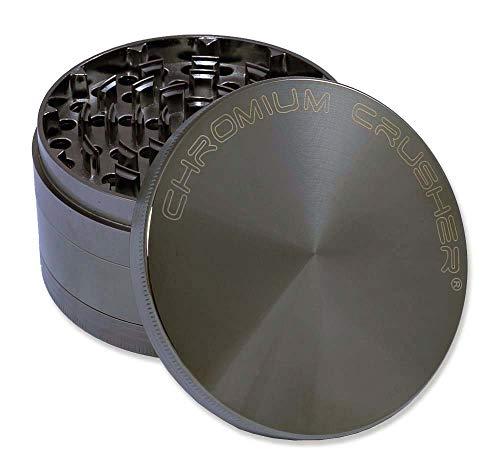 Chromium Crusher 4.0' Heavy Duty Durable Zinc Tobacco Spice Herb Grinder