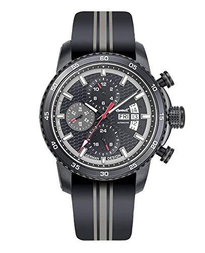 Ingersoll Herren Analog Automatik Uhr mit Leder Armband IN1717BK