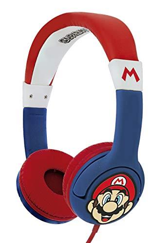 OTL Technlogies Super Mario Junior Casque d'écoute, Filaire, pour Enfants (Produit sous Licence Officielle)