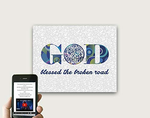 Bless The Broken Road by Rascal Flatts Poster, Anniversary Tech Gifts For Men, QR Code First Dance Song Wall Art, Birthday Gifts for Husband, Valentine's Day Gift for Him, Print Only