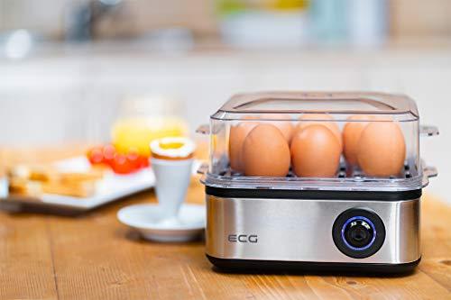 ECG UV 5080 Cuiseur à œufs Argenté