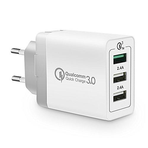 VOIMAKAS 3.0 Quick Charge Caricatore USB da Muro 3...