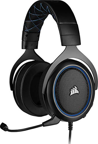 Corsair HS50 Pro, Cuffie Gaming, Over Ear, Blu