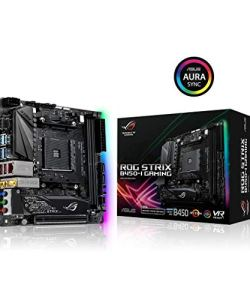ASUS ROG Strix B450-I Gaming AMD AM4 (3rd/2nd /1stGen Ryzen ITX SFF Motherboard (Intel Gigabit Ethernet, 2x2 802.11ac Wi-Fi, USB 3.1 Gen 2 and Aura sync RGB Lighting)