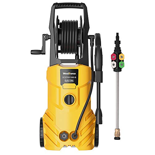 WestForce Electric Pressure Washer, 3000 PSI 1.85 GPM Power Washer, 1800 W High Power Cleaner w…
