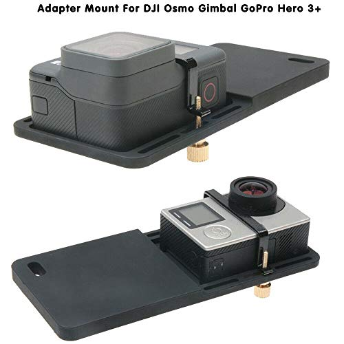 BAAQII Montaggio dell'Adattatore Plate per DJI Osmo Gimbal GoPro Hero 5 4 3 3+