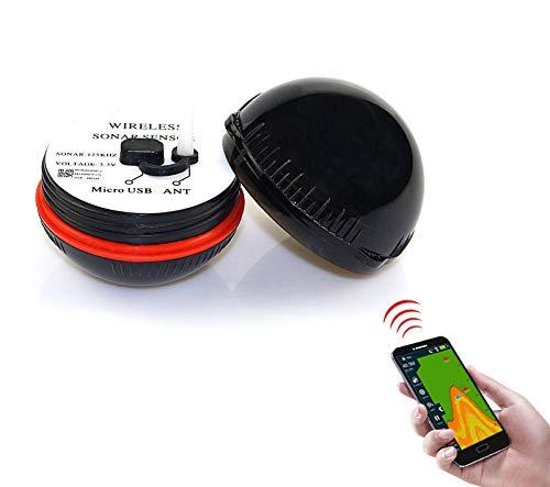 Ecoscandaglio Pesca Attrezzo Da Pesca Sonar HD Subacqueo Visibile Del Rivelatore Del Pesce Intelligente Bluetooth Del Telefono Cellulare,Black