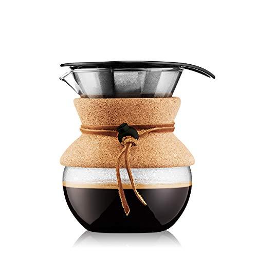 Bodum Pour Over Independiente Manual Drip coffee maker 0.5L Transparente - Cafetera (Independiente,...