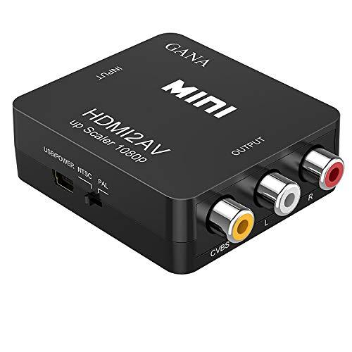HDMI to RCA 変換コンバーター GANA HDMI to AV コンポジット HDMIからアナログに変換アダプタ 1080P 音声...