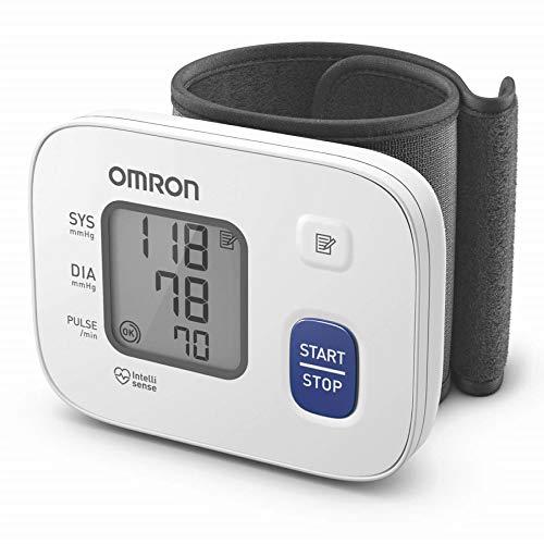 Omron HEM 6161 Fully Automatic Wrist Blood Pressure Monitor with Intellisense Technology, Cuff...
