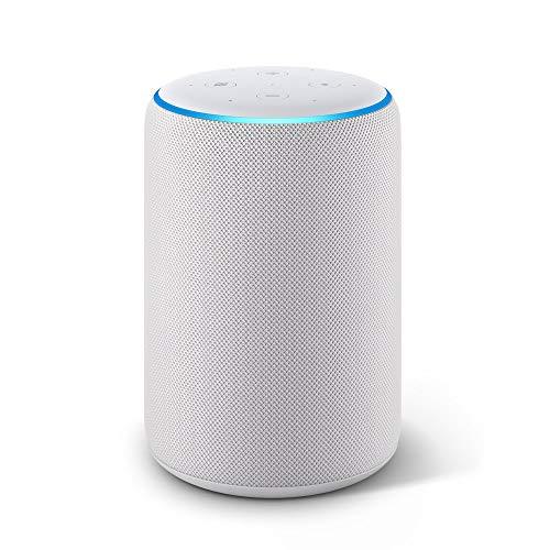 Echo Plus (2. Gen.), mit Premiumklang und integriertem Smart Home-Hub, Sandstein Stoff