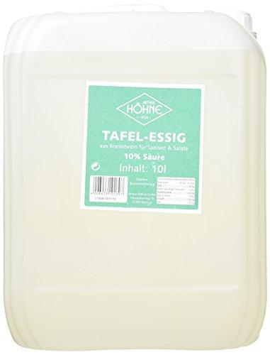 Höhne Tafelessig, 10% Säure, 1er Pack (1 x 10 l Packung)