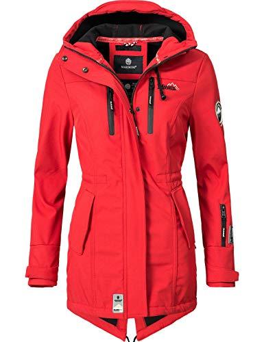 Marikoo Damen Softshell-Jacke Outdoorjacke Zimtzicke Rot Gr. S