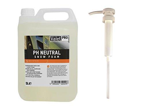 ValetPRO ph Neutral Snow foam 5L + detailmate Dosier Dispenser 30 ml pro Hub - Hand Pumpe für...