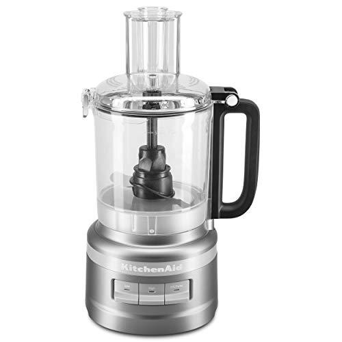 KitchenAid KFP0918CU Easy Store Food Processor, 9 Cup, Contour Silver