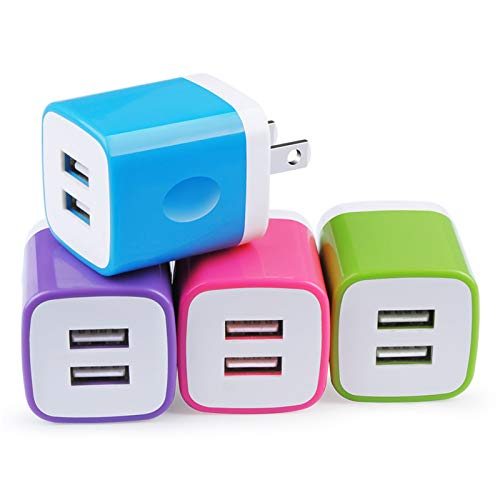 NonoUV 4Pack Dual Port USB Charging Block Brick