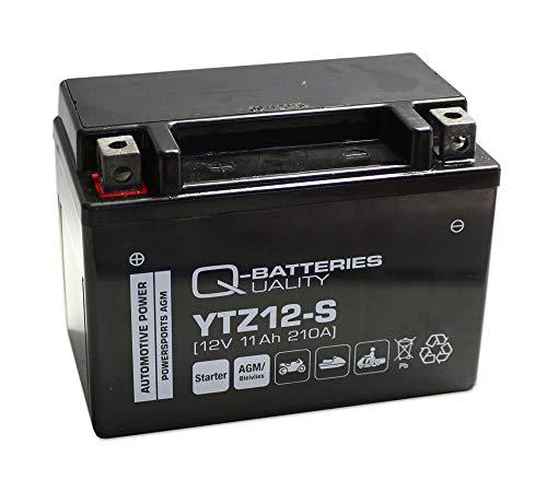 Q-Batteries Motorrad-Batterie YTZ12-S AGM 12V 11Ah 210A