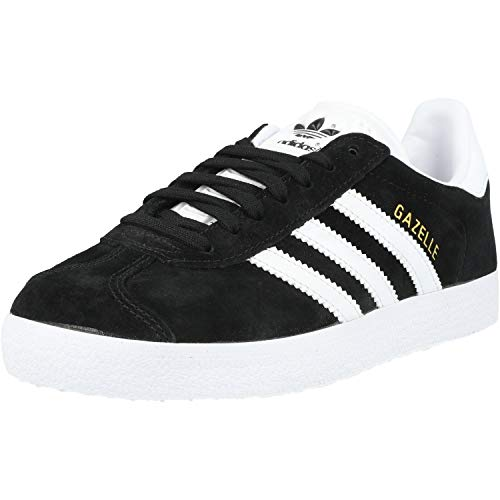 adidas Gazelle, Zapatillas de deporte Unisex Adulto, Varios colores (Core Black/White/Gold Metalic), 43 1/3 EU