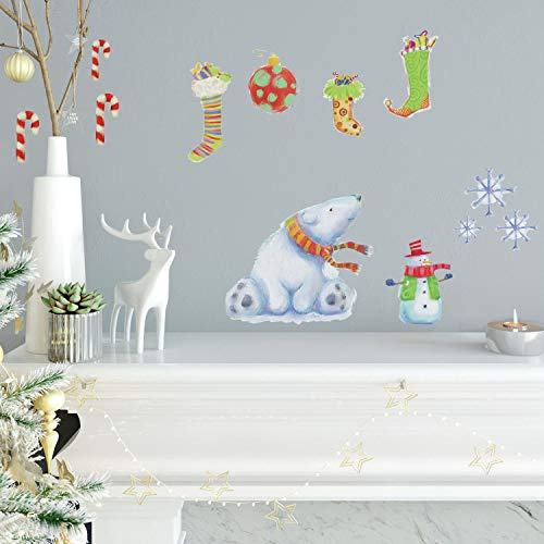 RoomMates Polar Christmas Peel And Stick Wall Decals