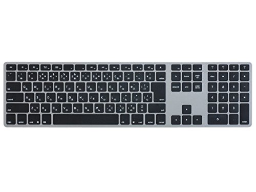 Matias Wireless Aluminum Keyboard Bluetooth3.0 MAC配列/日本語カナあり マルチペアリング4台 スペースグレイ/ブラック FK418BTB-JP