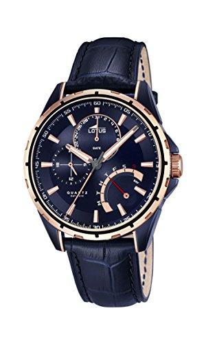 Lotus Herren Analog Quarz Uhr mit Leder Armband 18210/1