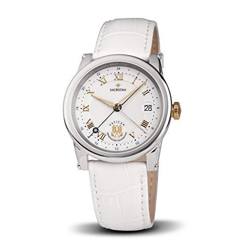 Vatikan Observatorium Uhrenserie Sacristan - Damenquarzuhr Bicolor-Weiss